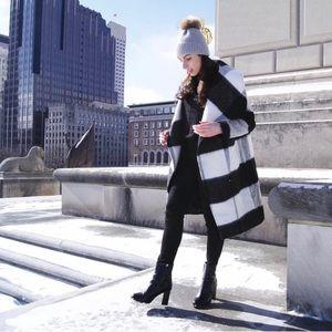 Express plaid long coat